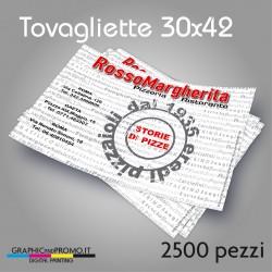2500 tovagliette in carta 30x42