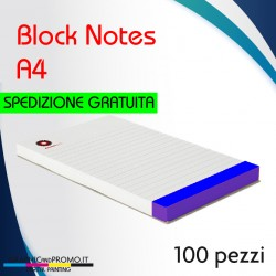 100 block notes formato A4