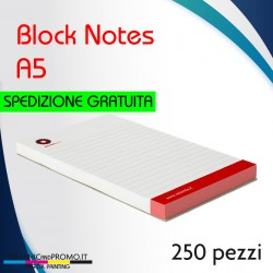 250 block notes formato A5
