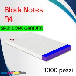 1000 block notes formato A4