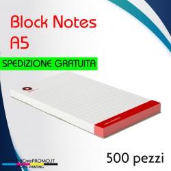 500 block notes formato A5