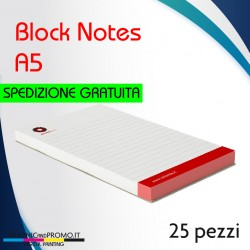 25 block notes formato A5