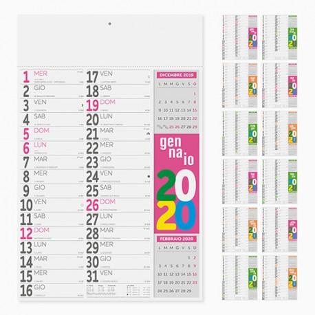 PA503 - CALENDARIO 2020 - FLUO