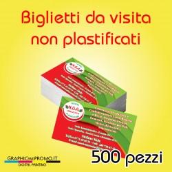 500 biglietti da visita non plastificati
