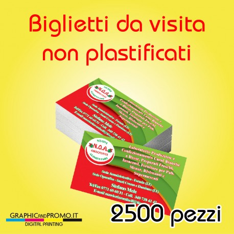 2500 biglietti da visita non plastificati
