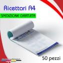 50 ricettari formato A4