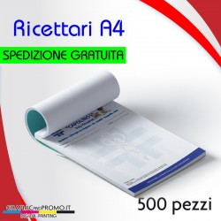 500 ricettari formato A4