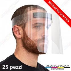 25 visiere protettive facciali