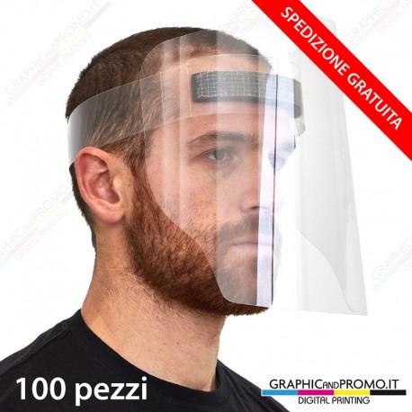 100 visiere protettive facciali