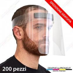200 visiere protettive facciali