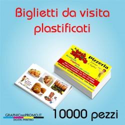 10000 biglietti da visita plastificati