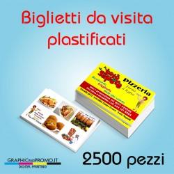 2500 biglietti da visita plastificati
