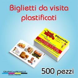 500 biglietti da visita plastificati