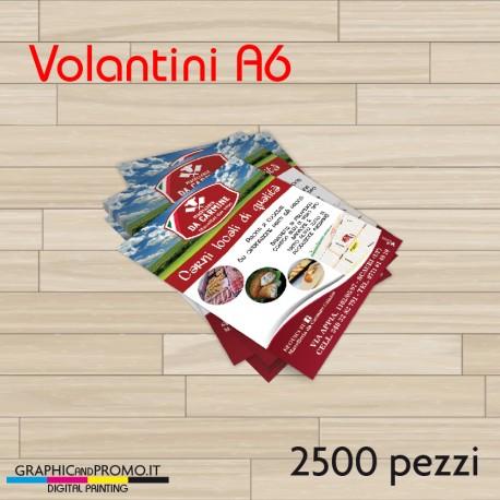 Volantini A6 - 2500 pezzi