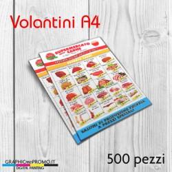 Volantini A4 - 500 pezzi