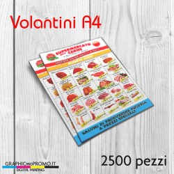 Volantini A4 - 2500 pezzi