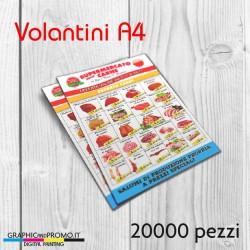 Volantini A4 - 20000 pezzi